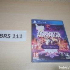 Videojuegos y Consolas PS4: PS4 - AGENTS MAYHEM , PAL ESPAÑOL , PRECINTADO. Lote 293998123