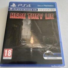 Videojuegos y Consolas PS4: HERE THEY LIE VR REQUERIDO PS4. Lote 294035583