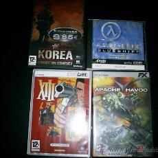 Videojuegos y Consolas: LOTE DE 4 JUEGOS PARA PC EN PERFECTAS CONDICIONES. Lote 27297854