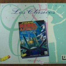 Videojuegos y Consolas: ANTIGUO JUEGO PC STAR WARS REBEL ASSAULT CLASICOS LUCAS ARTS. Lote 22893916
