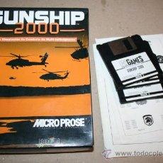 Videojuegos y Consolas: JUEGO PC IBM GUNSHIP 2000 DISKETTE 3.5 - 3 1/2 AÑO 1991. Lote 27056398