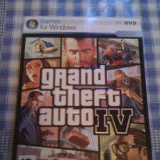 Videojuegos y Consolas: GRAND THEFT AUTO GTA 4 IV PARA PC ORDENADOR DISCO CD DVD VERSIÓN ESPAÑOLA CON CARTÓN DESPLEGABLE. Lote 26908246