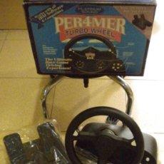 Videojuegos y Consolas: VOLANTE PARA PC PER4MER CON PEDALES (NUEVO A ESTRENAR). Lote 172468439