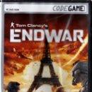 Videojuegos y Consolas: TOM CLANCY'S ENDWAR - CODEGAME - JUEGO PC TOTALMENTE EN CASTELLANO (PRECINTADO). Lote 28707673