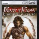 Videojuegos y Consolas: PRINCE OF PERSIA, EL ALMA DEL GUERRERO - CODEGAME - JUEGO PC TOTALMENTE EN CASTELLANO (PRECINTADO). Lote 28711062
