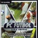 Videojuegos y Consolas: PC FUTBOL LIGA TRIVIA - JUEGO PC TOTALMENTE EN CASTELLANO (PRECINTADO). Lote 28747029