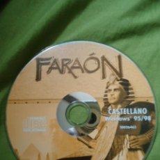Videojuegos y Consolas: JUEGO PC CD-ROM, FARAON. Lote 29136312
