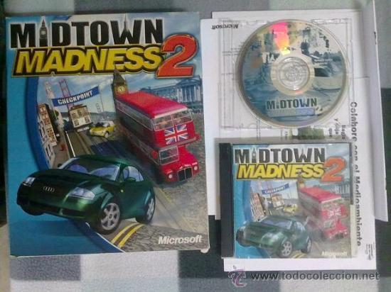 JUEGO PC MIDTOWN MADNESS 2 CAJA DURA VERSION ESPAÑOLA (Juguetes - Videojuegos y Consolas - PC)