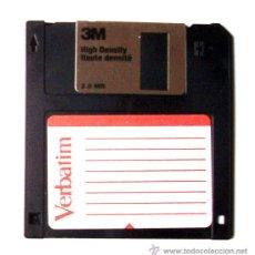 Videojuegos y Consolas: DISQUETTE 3.5 --ANTIGUO-INFORMATICA -DISKETTE Ó DISCO FLEXIBLE DE ORDENADOR 9 X9,5 CM-COLOR NEGRO DI. Lote 29706484