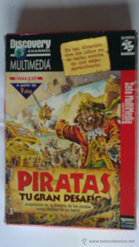 Videojuegos y Consolas: PIRATAS.MAGNIFICO Y EDUCATIVO JUEGO PARA PC.DICOVERY CHANNEL.MUY BUSCADO.ERA HE MAN.AÑOS 80 - Foto 2 - 30048878