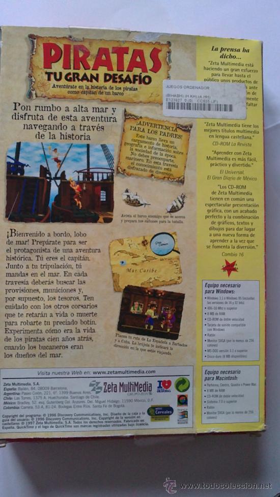 Videojuegos y Consolas: PIRATAS.MAGNIFICO Y EDUCATIVO JUEGO PARA PC.DICOVERY CHANNEL.MUY BUSCADO.ERA HE MAN.AÑOS 80 - Foto 7 - 30048878