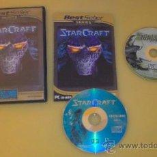 Videojuegos y Consolas: JUEGO DE PC, ORDENADOR STARCRAFT + EXPANSION. Lote 31036224
