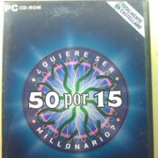 Videojuegos y Consolas: 50 POR 15 / JUEGO DEL PROGRAMA DE TV QUIERES SER MILLONARIO / JUEGO ORIGINAL. Lote 31152319