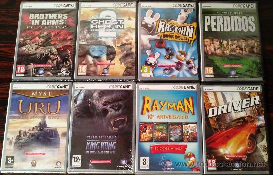 LOTE 21 JUEGOS PC CODEGAME: PERDIDOS, KING KONG, ASSASSIN'S CREED, BROTHERS IN ARMS... (PRECINTADOS) (Juguetes - Videojuegos y Consolas - PC)