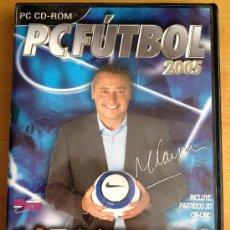 Videojuegos y Consolas: PC FUTBOL 2005 PC CD-ROM. Lote 31763221