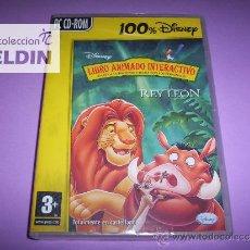 Videojuegos y Consolas: EL REY LEÓN DISNEY LIBRO ANIMADO INTERACTIVO (PC). Lote 35308101