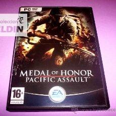 Videojuegos y Consolas: MEDAL OF HONOR PACIFIC ASSAULT COMPLETO PAL ESPAÑA PC. Lote 31925398