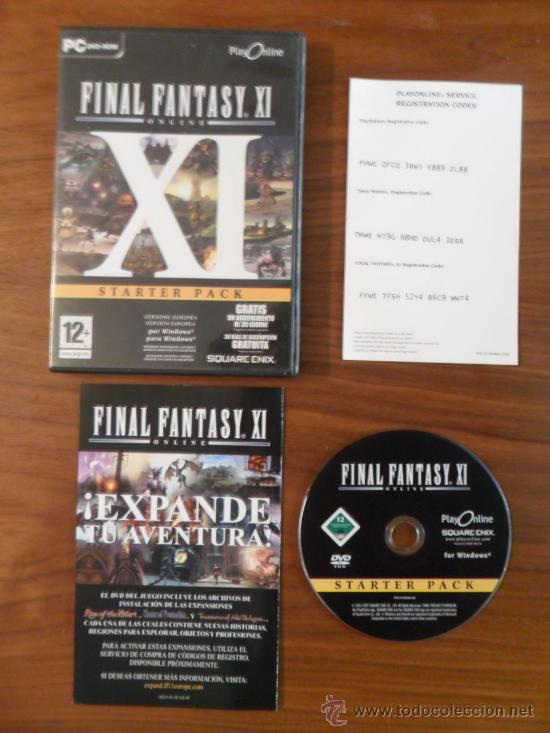 FINAL FANTASY XI ONLINE / FINAL FANTASY 11 - STARTER PACK - PC (Juguetes - Videojuegos y Consolas - PC)
