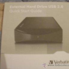 Videojuegos y Consolas: INSTRUCCIONES DISCO DURO EXTERNO VERBATIM. Lote 35718883