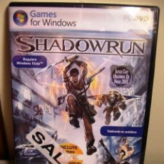 Videojuegos y Consolas: SHADOWRUN - PC DVD (2007) - JUEGA EN XBOX360 Y WINDOWS VISTA.. Lote 34442247