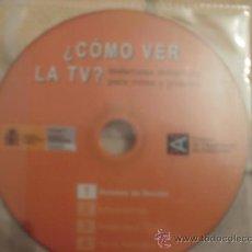 Videojuegos y Consolas: CDROM COMO VER LA TELEVISION. Lote 42802082