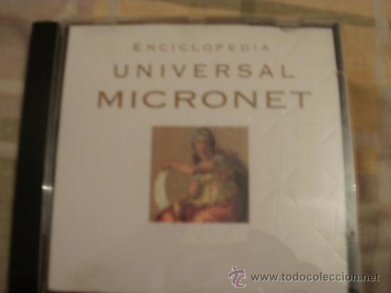CDROM ENCICLOPEDIA UNIVERSAL MICRONET (Juguetes - Videojuegos y Consolas - PC)