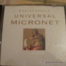 Videojuegos y Consolas: CDROM ENCICLOPEDIA UNIVERSAL MICRONET. Lote 34694146