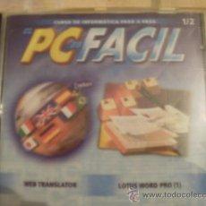 Videojuegos y Consolas: CDROM PC FACIL CON PROGRAMAS WEB TRANSLATOR Y LOTUS WORD PRO 1. Lote 34694189