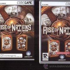 Videojuegos y Consolas: RISE OF NATIONS GOLD EDITION, DOS DISCOS , JUEGO PC. Lote 37338210