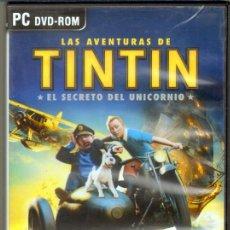 Videojuegos y Consolas: OTROS GOYO - JUEGO PC - TINTIN - EL SECRETO DEL UNICORNIO - DE LA PELI DE SPIELBERG - NUEVO *AA99. Lote 39079475