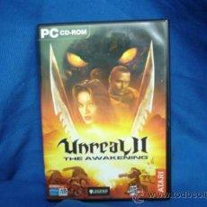 Videojuegos y Consolas: UNREAL II - THE AWAKENING - JUEGO PC CD-ROM - 2 DISCOS Y LIBRO. Lote 39268276
