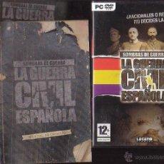 Videojuegos y Consolas: SOMBRAS DE GUERRA LA GUERRA CIVIL ESPAÑOLA - JUEGO PARA PC , CONTIENE LIBRO INSTRUCCIONES. Lote 39516294