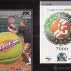 Videojuegos y Consolas: ROLAND GARROS, VIRTUAL TENNIS, JUEGOS PC, LIBRO INSTRUCCIONES + PEGATINAS. Lote 39516441
