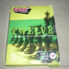 Videojuegos y Consolas: FRITZ TWELVE BY CHESSBASE .EL PROGRAMA DE AJEDREZ AUTENTICAMENTE GRANDE .. Lote 40925000