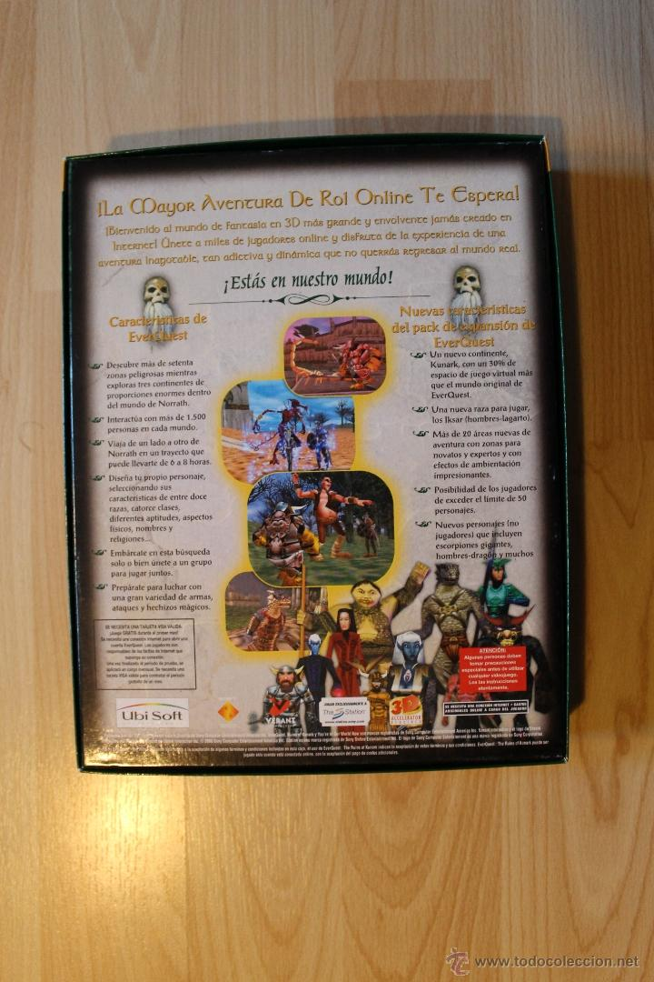 Videojuegos y Consolas: EVER QUEST THE RUINS OF KUNARK JUEGO PC EDICIÓN ESPAÑOLA CAJA CARTÓN BIG BOX - Foto 3 - 41115799