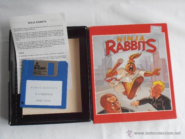 Videojuegos y Consolas: JUEGO NINJA RABBITS SYSTEM 4 IBM PC 3 1/2 CAJA E INSTRUCCIONES - Foto 2 - 41289387