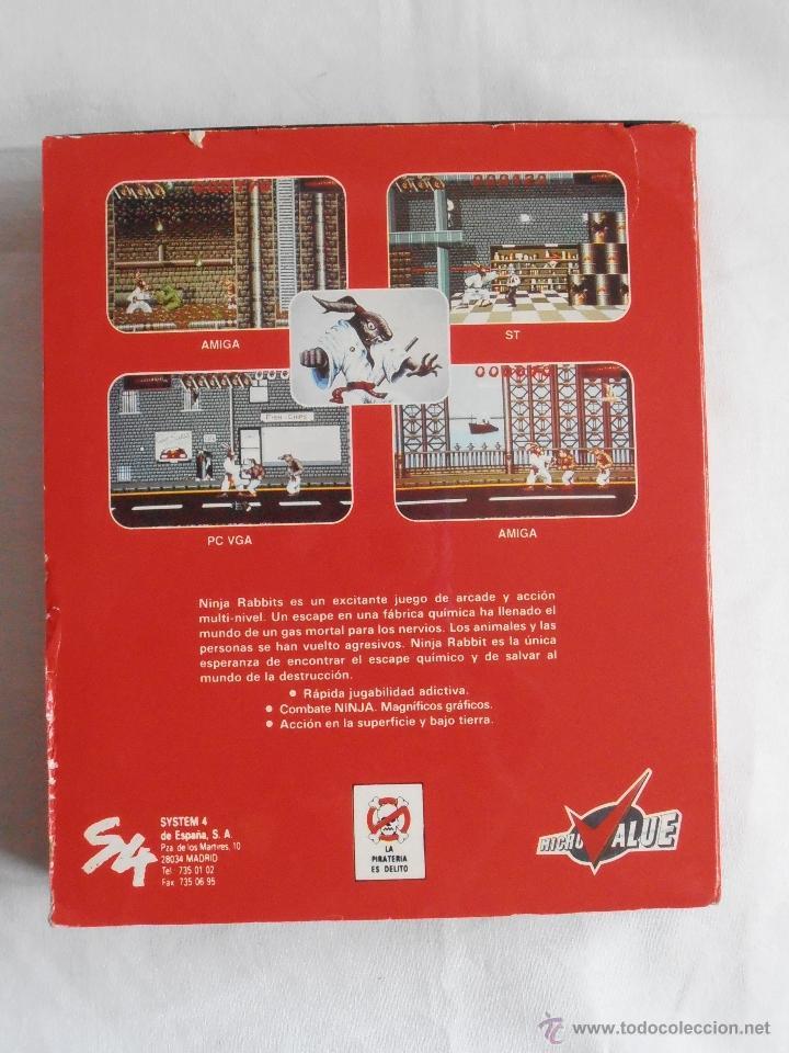 Videojuegos y Consolas: JUEGO NINJA RABBITS SYSTEM 4 IBM PC 3 1/2 CAJA E INSTRUCCIONES - Foto 3 - 41289387
