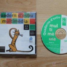 Videojuegos y Consolas: QUADERN D'ESTIU MULTIMÈDIA PROGRMA PC EDICIÓN CATALANA. Lote 41303432