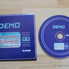 Videojuegos y Consolas: DEMO TOTAL GAMES JUEGO PC EDICIÓN ESPAÑOLA EN ESTUCHE DE CARTÓN. Lote 41305003
