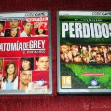 Videojuegos y Consolas: VIDEOJUEGO PARA PC-DVD-ROM 2 JUEGOS ANATOMÍA DE GREY-PERDIDOS CODE GAME NUEVOS. Lote 42636287