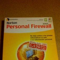 Videojuegos y Consolas: NORTON PERSONAL FIREWALL 2002 PROGRAMA APLICACION PC. Lote 42907162