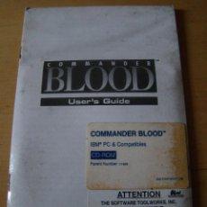 Videojuegos y Consolas: ANTIGUO JUEGO PC COMMANDER BLOOD. Lote 43408540