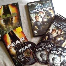 Videojuegos y Consolas: JUEGOS PC F.E.A.R. Y SABOTAIN. Lote 44452936