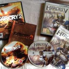 Videojuegos y Consolas: JUEGOS PC HÉROES V Y FARCRY 2. Lote 44454994