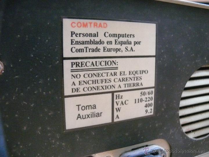 Videojuegos y Consolas: NUNCA VISTO ORDENADOR ANTIGUO COMTRAD 88 COMPATIBLE IBM Y AMSTRAD AÑOS 80 ESPAÑA - Foto 3 - 45003826
