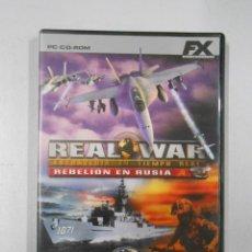 Videojuegos y Consolas: REAL WAR REBELIÓN EN RUSIA JUEGO DE PC DE FX COLECCIÓN EL MUNDO. TDKV1. Lote 137377693