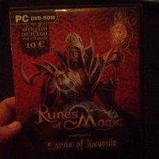 Videojuegos y Consolas: JUEGO PARA PC RUNES OF MAGIC MUY NUEVO. Lote 47823892