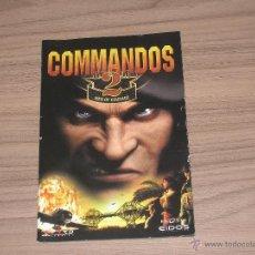 Videojuegos y Consolas: COMMANDOS 2 PC MANUAL DE INSTRUCCIONES PAL ESPAÑA CASTELLANO. Lote 48753344
