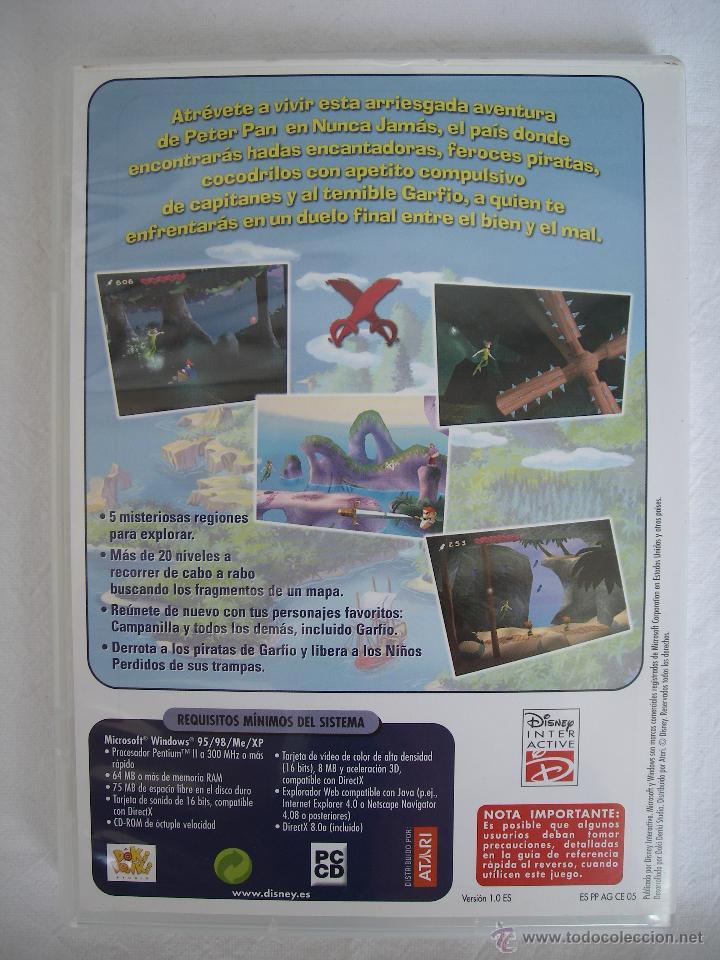 Videojuegos y Consolas: AVENTURAS DE PETER PAN EN EL PAÍS DE NUNCA JAMÁS - DISNEY CLASICOS - JUEGO PC ANIMACIÓN INFANTIL - Foto 2 - 130330186