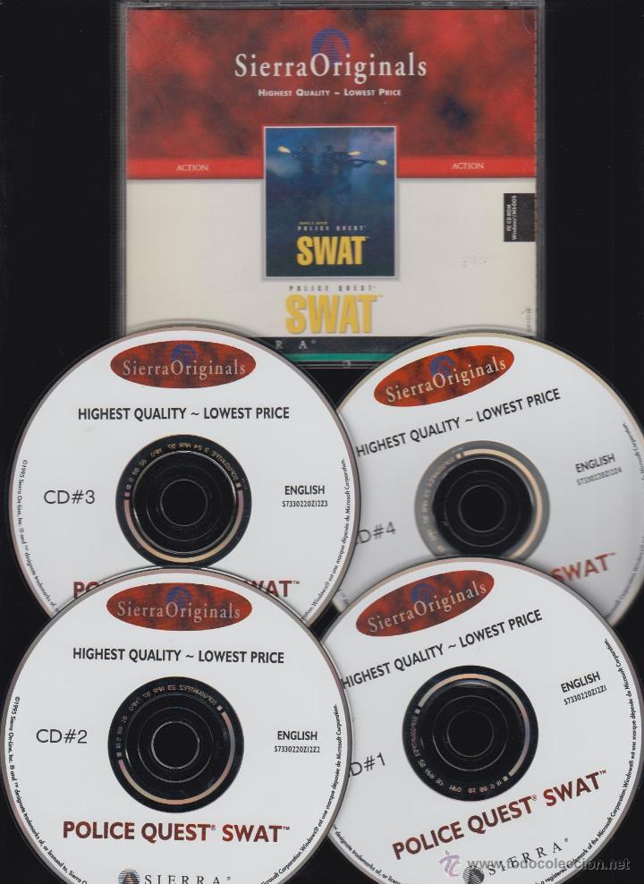 POLICE QUEST SWAT DE SIERRA ORIGINALS , 4 CDS ( JUEGO PARA PC ) (Juguetes - Videojuegos y Consolas - PC)